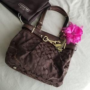 Authentic Coach monogram purse